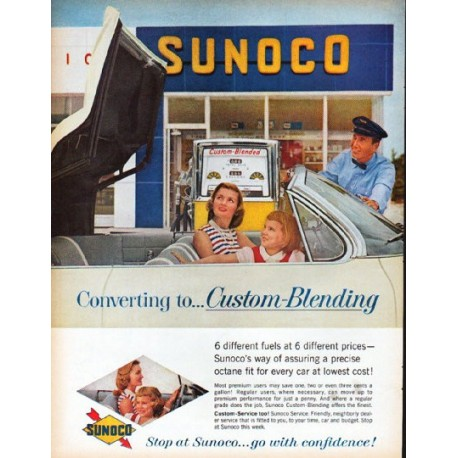 "1961 Sunoco Ad ""Custom-Blending"""