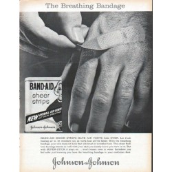 "1961 Johnson & Johnson Ad ""The Breathing Bandage"""