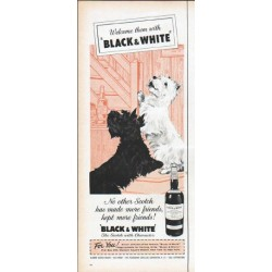 "1961 Black & White Scotch Ad ""more friends"""