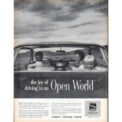 "1961 Libbey Owens Ford Glass Ad ""Open World"""