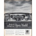 """1961 Libbey Owens Ford Glass Ad """"Open World"""""""