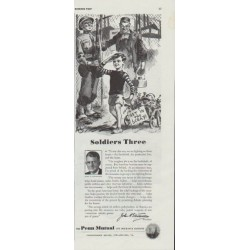 "1942 Penn Mutual Life Insurance Ad ""Soldiers Three"""