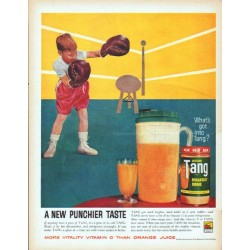 "1961 Tang Breakfast Drink Vintage Ad ""New Punchier Taste"""