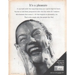 "1961 Dial Soap Ad ""It's a pleasure"""