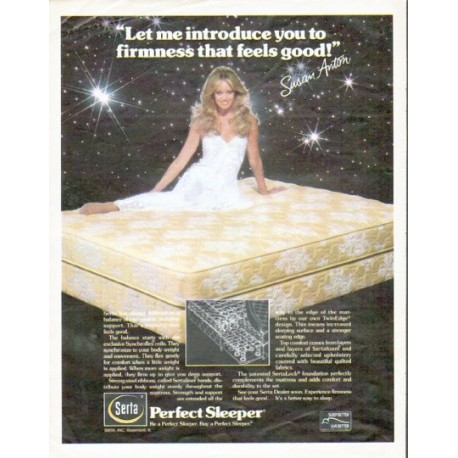 "1979 Serta Perfect Sleeper Ad ""firmness that feels good"" ... Susan Anton"