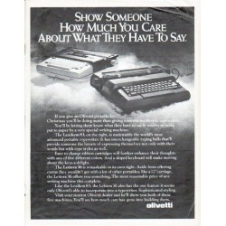 "1979 Olivetti Typewriter Ad ""Show Someone"""