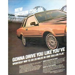 "1980 Datsun Ad ""Gonna drive you"""
