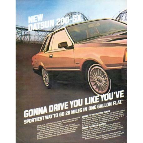 "1980 Datsun Ad ""Gonna drive you"""