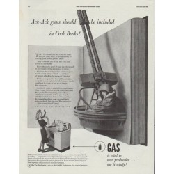 "1942 American Gas Association Ad ""Ack-Ack guns"""