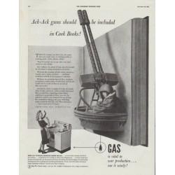 "1942 American Gas Association Ad ""Ack-Ack guns"""