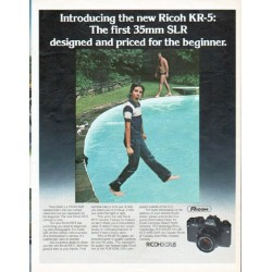 "1979 Ricoh Camera Ad ""the new Ricoh KR-5"""