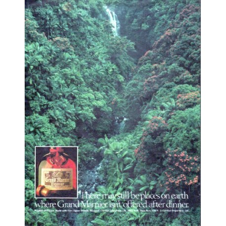 """1979 Grand Marnier Ad """"places on earth"""""""