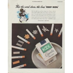 "1942 KOOL Cigarettes Ad ""Pass the word down the line, ""Keep Kool"""""