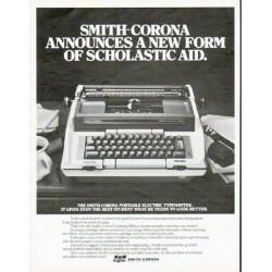 "1979 Smith-Corona Typewriter Ad ""Scholastic Aid"""