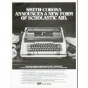 "1979 Smith-Corona Typewriter Ad ""Scholastic Aid"""