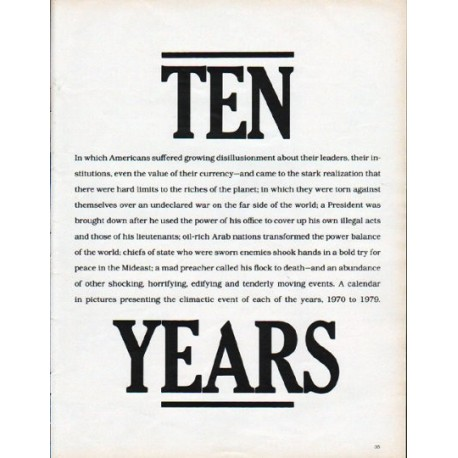 "1979 1970s Article ""Ten Years"""