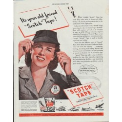 "1942 Scotch Tape Ad ""It's your old friend ""Scotch"" Tape!"""