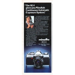 "1979 Minolta Camera Ad ""The XG-1"""