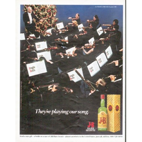 "1979 J&B Scotch Ad ""They're playing our song."""