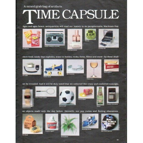 "1979 1970s Article ""Time Capsule"""