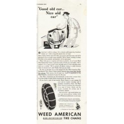 "1942 Weed American Ad ""Good old car ... Nice old car"""