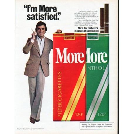 "1979 More Cigarettes Ad ""I'm More satisfied"""