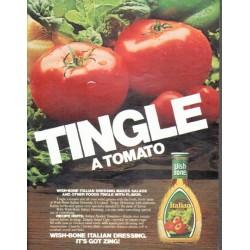 "1979 Wish-Bone Dressing Ad ""Tingle"""