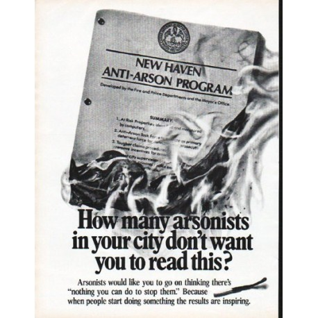 """1979 Aetna Insurance Ad """"How many arsonists"""""""