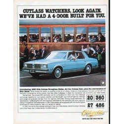 "1980 Oldsmobile Ad ""Cutlass watchers"""