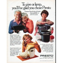 "1979 Presto Ad ""To give or keep"""