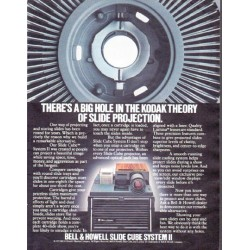 """1979 Bell & Howell Ad """"a big hole"""""""