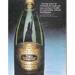 "1979 Baron Philippe de Rothschild Champagne Ad ""For the price"""