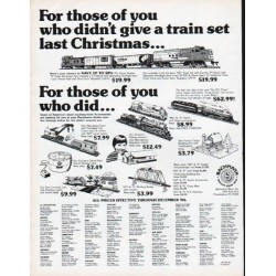 "1979 Bachmann Bros. Trains Ad ""a train set last Christmas"""