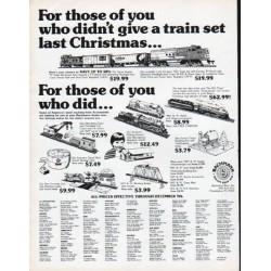 "1979 Bachmann Bros. Trains Ad ""a train set last Christmas"""