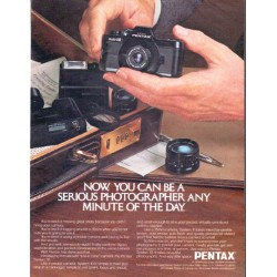 "1979 Pentax Camera Ad ""serious photographer"""