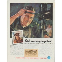 "1942 Studebaker Ad ""Still working together!"""