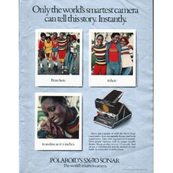 "1979 Polaroid Camera Ad ""world's smartest camera"""