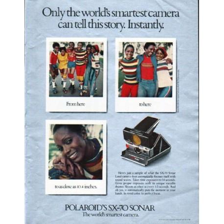 """1979 Polaroid Camera Ad """"world's smartest camera"""""""
