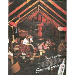 "1979 Smirnoff Vodka Ad ""New Year's Eve"""