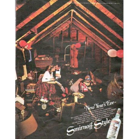 "1979 Smirnoff Vodka Ad ""New Year's Eve"""