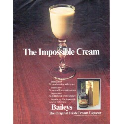 "1979 Baileys Irish Cream Liqueur Ad ""The Impossible Cream"""