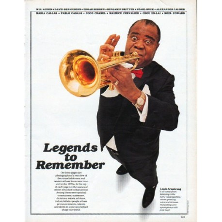 1979 Legends to Remember Article ... remarkable men and women