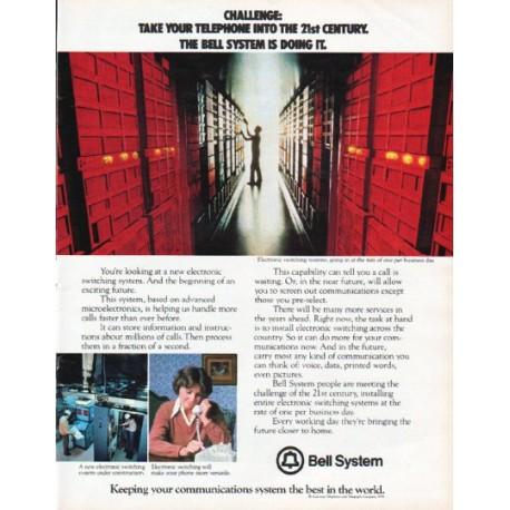 "1979 Bell System Ad ""the 21st Century"""