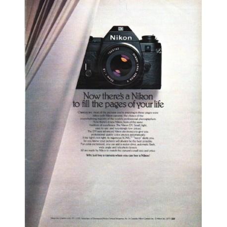 "1979 Nikon Camera Ad ""Now there's a Nikon"""