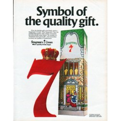 "1979 Seagram's 7 Ad ""Symbol of the quality gift."""