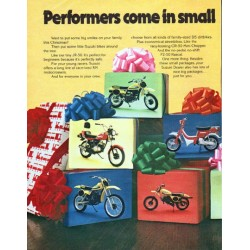 "1980 Suzuki Ad ""small packages"""