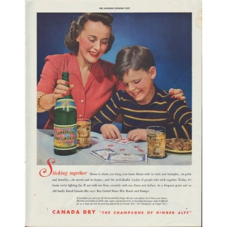 "1942 Canada Dry Ad ""Sticking together"""