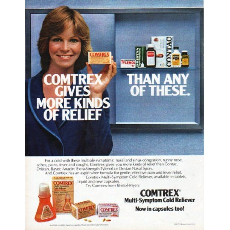 """1979 Comtrex Ad """"more kinds of relief"""""""