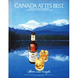 "1979 Canadian Mist Ad ""Canada at its best"""