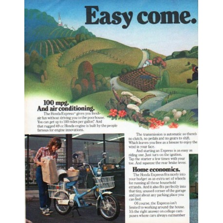 "1980 Honda Ad ""Easy come. Easy go."""